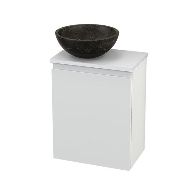 Toiletmeubel met Waskom Natuursteen Modulo+ Pico Hoogglans Wit 41cm BMC000090