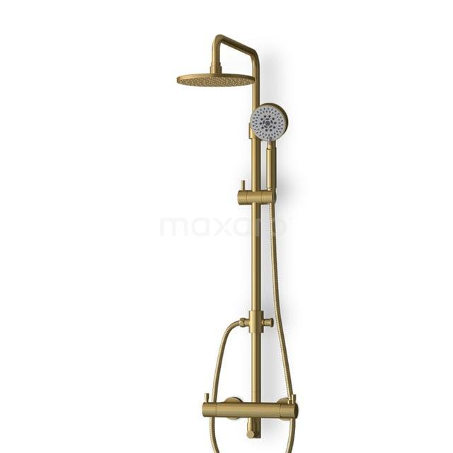 Regendoucheset Radius Gold, Thermostaatkraan, 20cm, Hoofddouche, Goud BOG55-00003