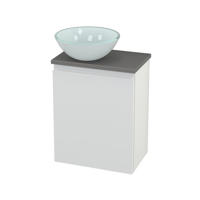 Toiletmeubel met Waskom Glas Modulo+ Pico Hoogglans Wit 41cm BMC000093