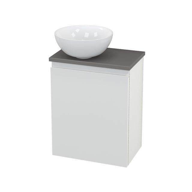 Toiletmeubel met Waskom Keramiek Modulo+ Pico Hoogglans Wit 41cm BMC000094