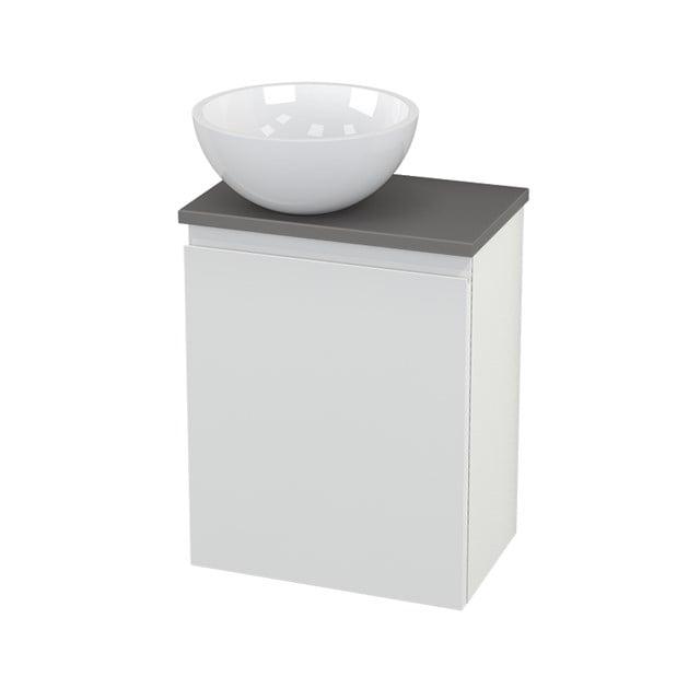 Toiletmeubel met Waskom Mineraalmarmer Glanzend Modulo+ Pico Hoogglans Wit 41cm BMC000095