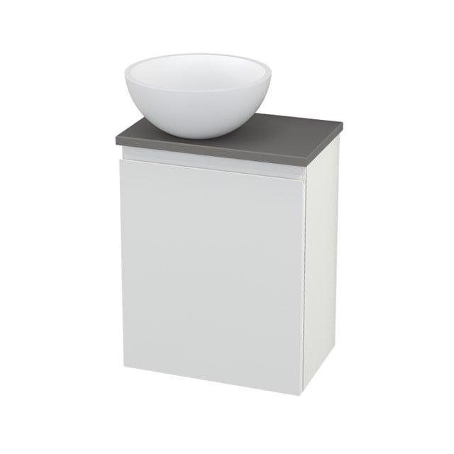 Toiletmeubel met Waskom Solid Surface Mat Modulo+ Pico Hoogglans Wit 41cm BMC000096