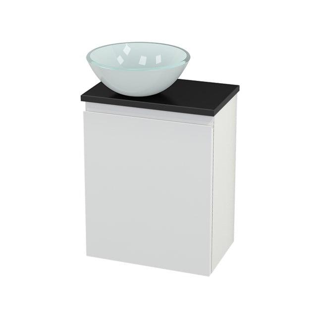 Toiletmeubel met Waskom Glas Modulo+ Pico Hoogglans Wit 41cm BMC000100