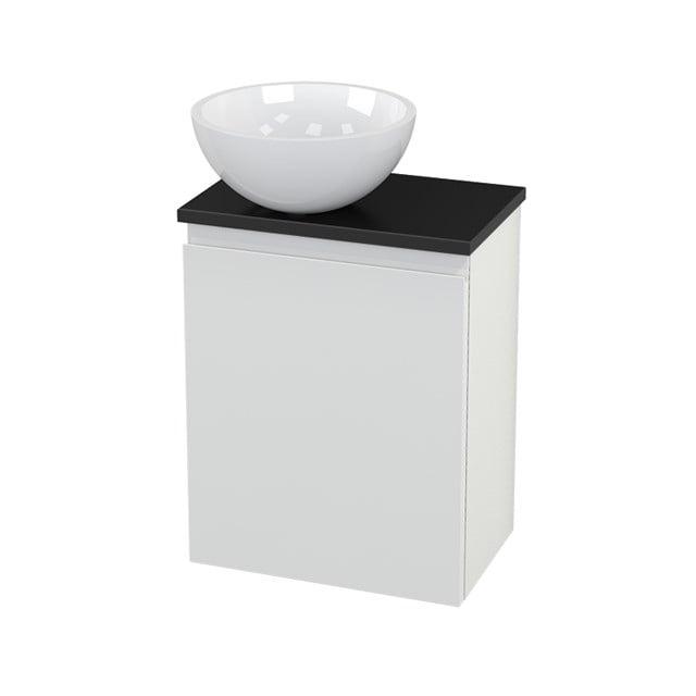 Toiletmeubel met Waskom Mineraalmarmer Glanzend Modulo+ Pico Hoogglans Wit 41cm BMC000102