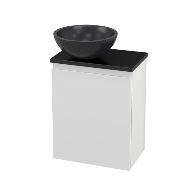 Toiletmeubel met Waskom Natuursteen Modulo+ Pico Hoogglans Wit 41cm BMC000104