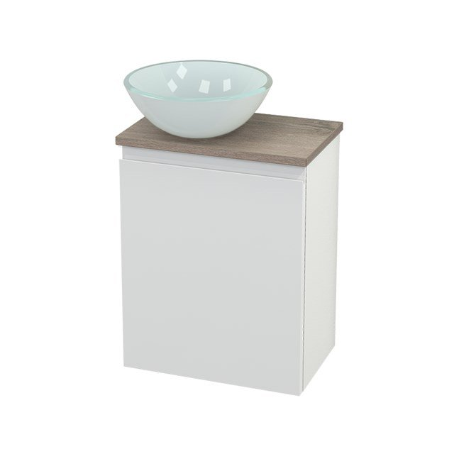 Toiletmeubel met Waskom Glas Modulo+ Pico Hoogglans Wit 41cm BMC000107