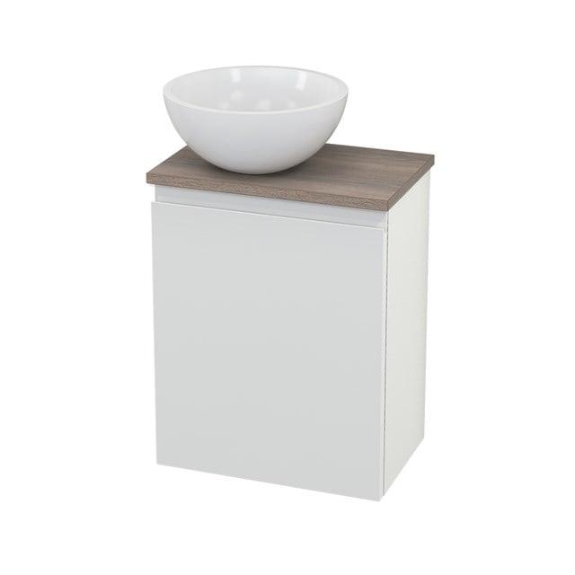 Toiletmeubel met Waskom Mineraalmarmer Glanzend Modulo+ Pico Hoogglans Wit 41cm BMC000109