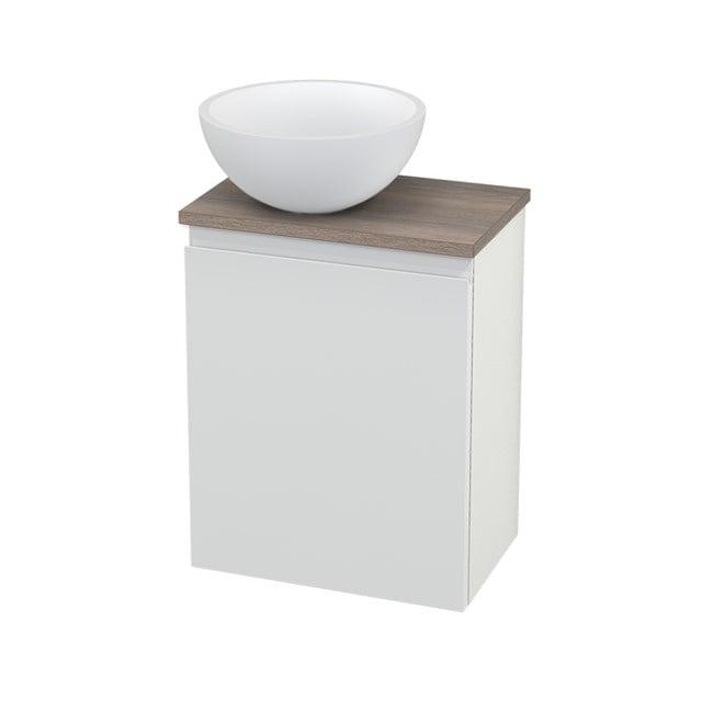 Toiletmeubel met Waskom Solid Surface Mat Modulo+ Pico Hoogglans Wit 41cm BMC000110
