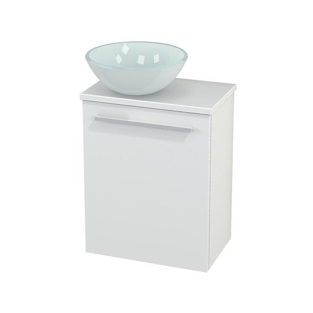 Toiletmeubel met Waskom Glas Modulo+ Pico Mat Wit 41cm BMC000114