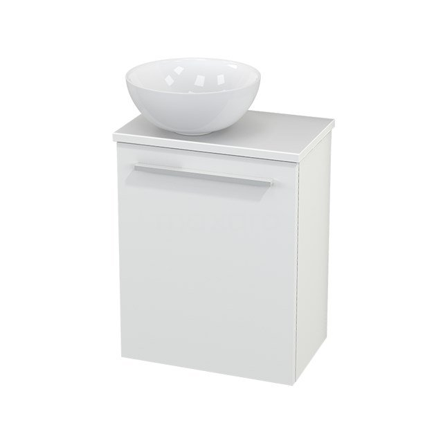 Toiletmeubel met Waskom Keramiek Modulo+ Pico Mat Wit 41cm BMC000115