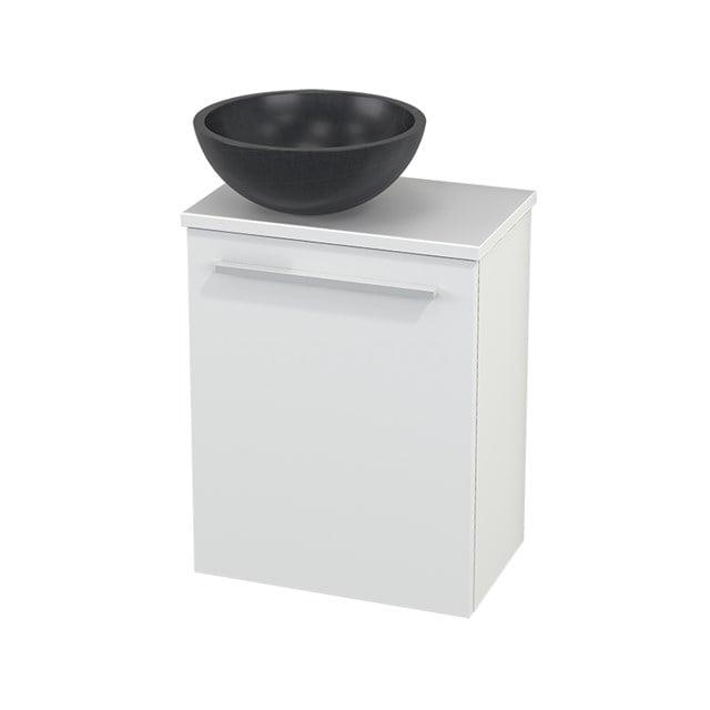 Toiletmeubel met Waskom Natuursteen Modulo+ Pico Mat Wit 41cm BMC000118