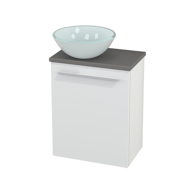 Toiletmeubel met Waskom Glas Modulo+ Pico Mat Wit 41cm BMC000121