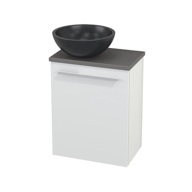 Toiletmeubel met Waskom Natuursteen Modulo+ Pico Mat Wit 41cm BMC000125