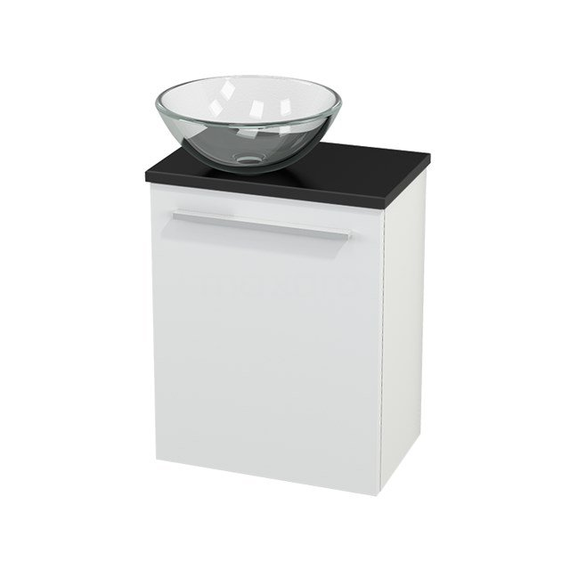 Toiletmeubel met Waskom Glas Modulo+ Pico Mat Wit 41cm BMC000127