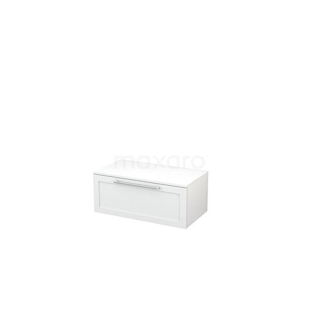 Hangende Badkamerkast Modulo+ 80x32cm Hoogglans Wit 1 Lade BMR000013