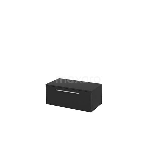 Hangende Badkamerkast Modulo+ 80x32cm Carbon 1 Lade BMR000015
