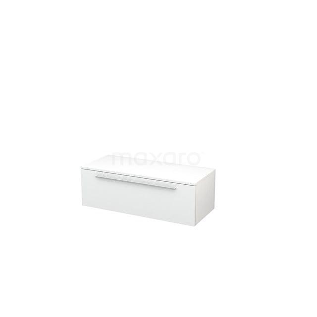 Hangende Badkamerkast Modulo+ 100x32cm Hoogglans Wit 1 Lade BMR000021