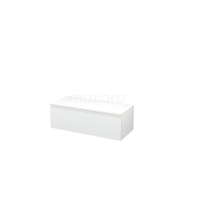 Hangende Badkamerkast Modulo+ 100x32cm Hoogglans Wit 1 Lade BMR000024