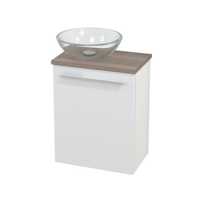 Toiletmeubel met Waskom Glas Modulo+ Pico Mat Wit 41cm BMC000134