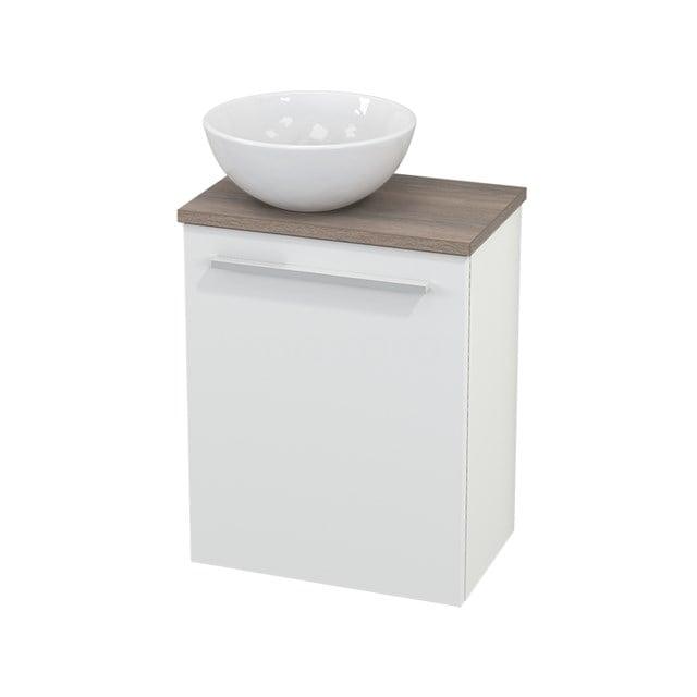 Toiletmeubel met Waskom Keramiek Modulo+ Pico Mat Wit 41cm BMC000136