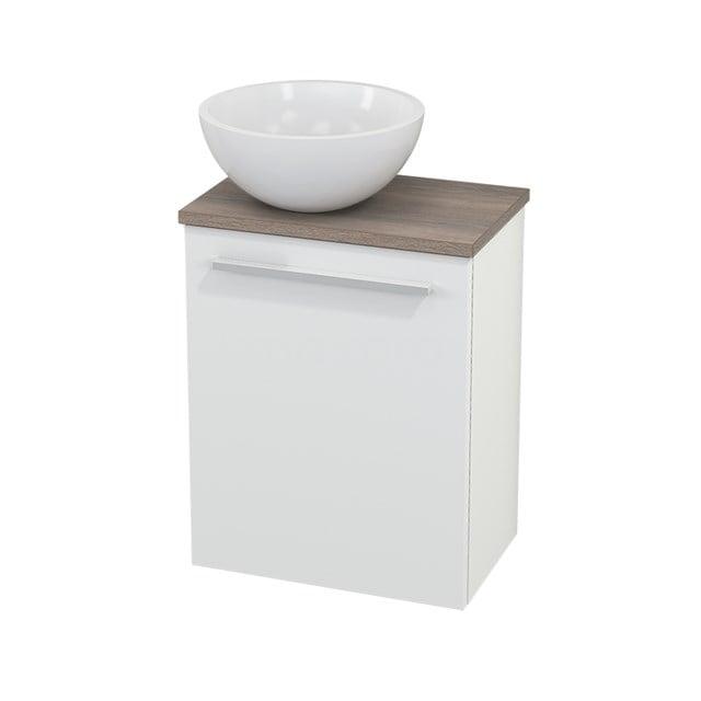 Toiletmeubel met Waskom Mineraalmarmer Glanzend Modulo+ Pico Mat Wit 41cm BMC000137
