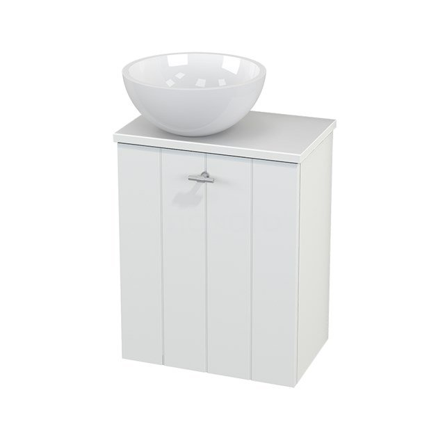 Toiletmeubel met Waskom Mineraalmarmer Glanzend Modulo+ Pico Mat Wit 41cm BMC000144