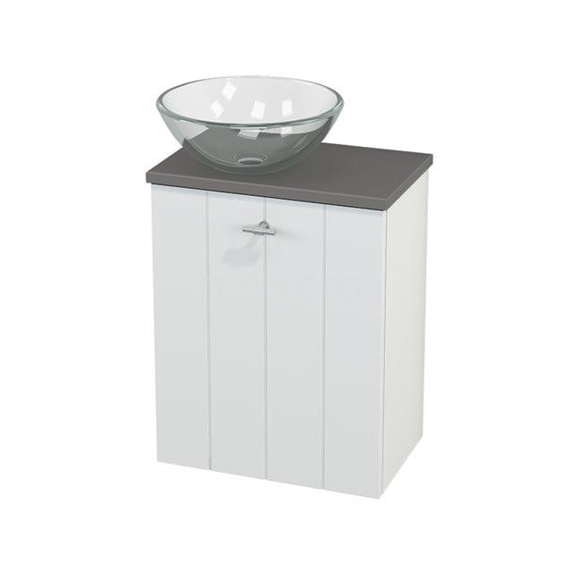 Toiletmeubel met Waskom Glas Modulo+ Pico Mat Wit 41cm BMC000148