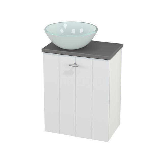 Toiletmeubel met Waskom Glas Modulo+ Pico Mat Wit 41cm BMC000149