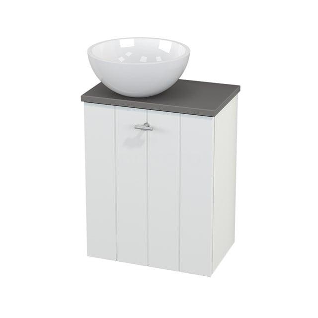 Toiletmeubel met Waskom Mineraalmarmer Glanzend Modulo+ Pico Mat Wit 41cm BMC000151