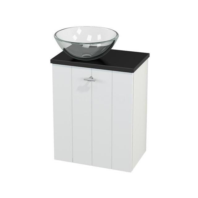 Toiletmeubel met Waskom Glas Modulo+ Pico Mat Wit 41cm BMC000155