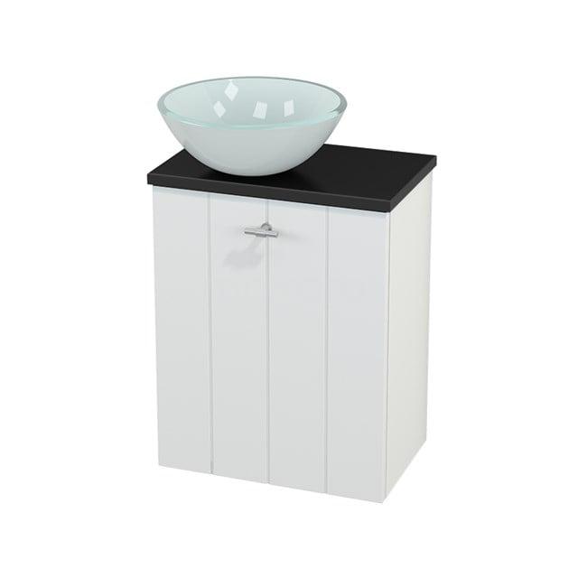 Toiletmeubel met Waskom Glas Modulo+ Pico Mat Wit 41cm BMC000156