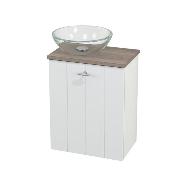 Toiletmeubel met Waskom Glas Modulo+ Pico Mat Wit 41cm BMC000162