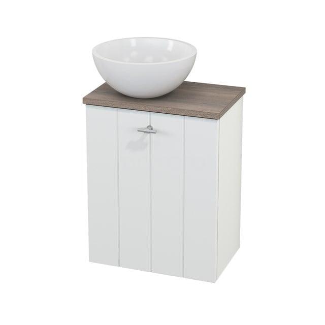 Toiletmeubel met Waskom Mineraalmarmer Glanzend Modulo+ Pico Mat Wit 41cm BMC000165