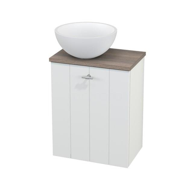 Toiletmeubel met Waskom Solid Surface Mat Modulo+ Pico Mat Wit 41cm BMC000166