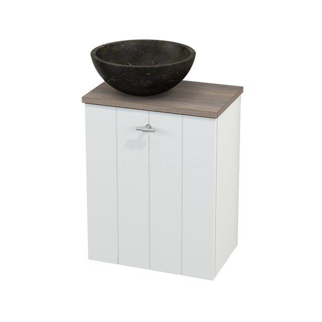 Toiletmeubel met Waskom Natuursteen Modulo+ Pico Mat Wit 41cm BMC000167