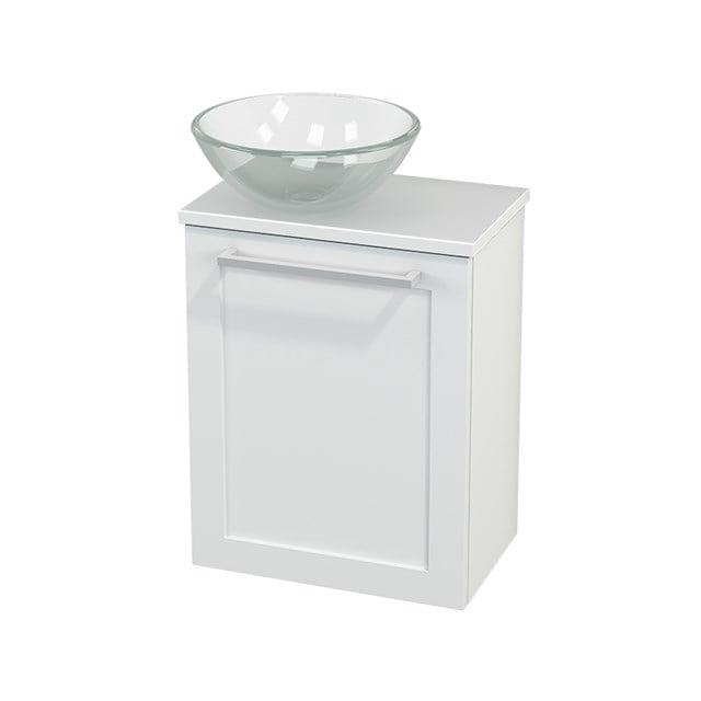 Toiletmeubel met Waskom Glas Modulo+ Pico Mat Wit 41cm BMC000169