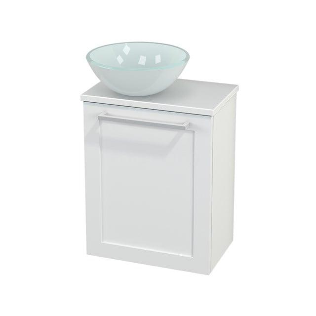 Toiletmeubel met Waskom Glas Modulo+ Pico Mat Wit 41cm BMC000170