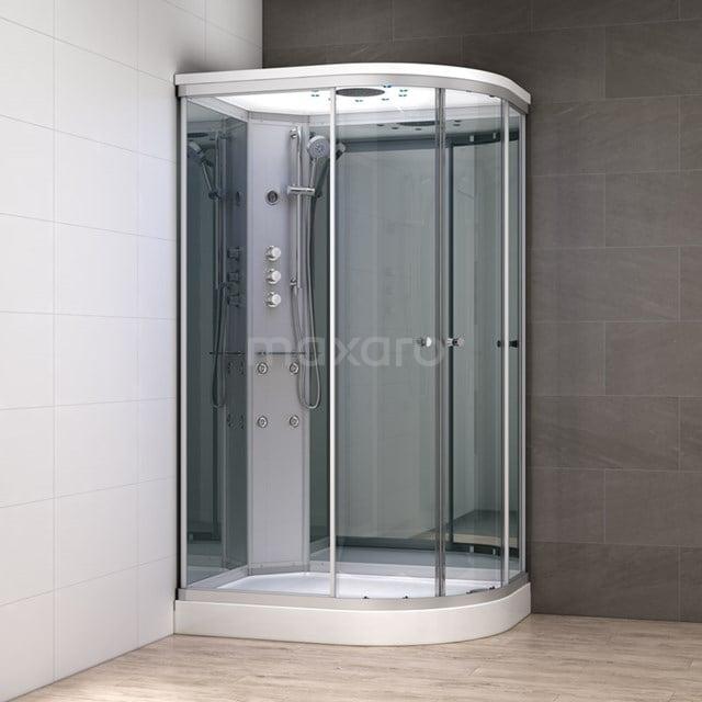 Complete Douchecabine 120x90cm Spiegelglas Modera Watermassage LED Verlichting AK1209-422101