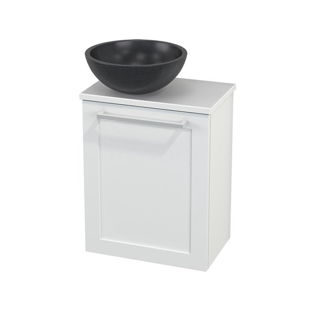 Toiletmeubel met Waskom Natuursteen Modulo+ Pico Mat Wit 41cm BMC000174