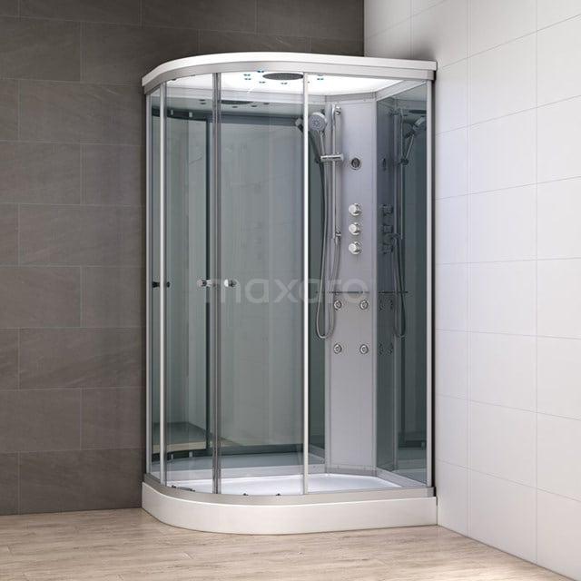 Complete Douchecabine 120x90cm Spiegelglas Modera Watermassage LED Verlichting AK1209-422102