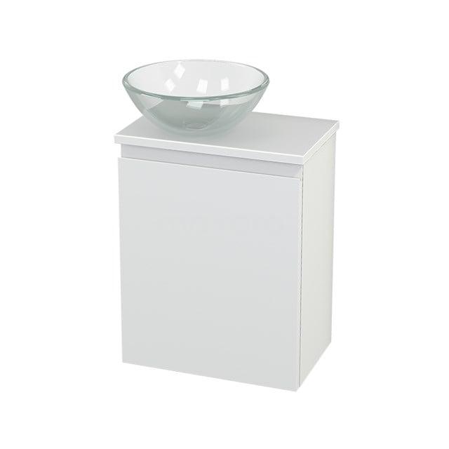 Toiletmeubel met Waskom Glas Modulo+ Pico Mat Wit 41cm BMC000197