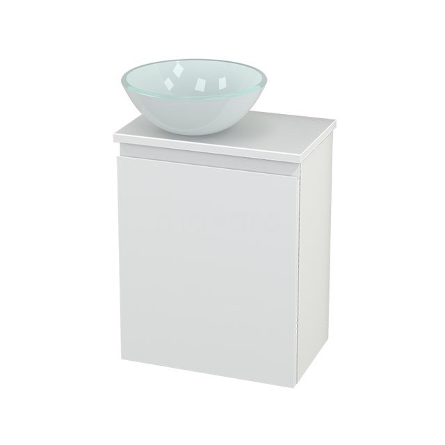 Toiletmeubel met Waskom Glas Modulo+ Pico Mat Wit 41cm BMC000198