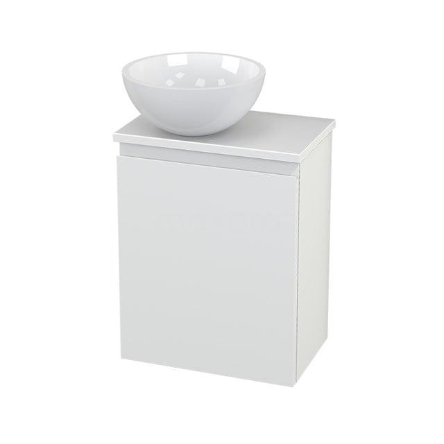 Toiletmeubel met Waskom Mineraalmarmer Glanzend Modulo+ Pico Mat Wit 41cm BMC000200