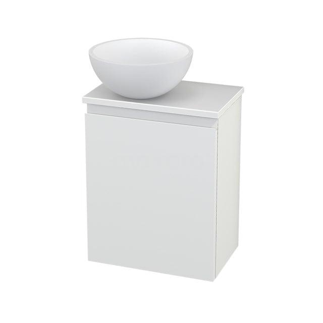 Toiletmeubel met Waskom Solid Surface Mat Modulo+ Pico Mat Wit 41cm BMC000201