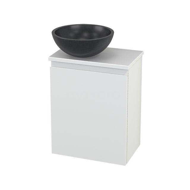 Toiletmeubel met Waskom Natuursteen Modulo+ Pico Mat Wit 41cm BMC000202