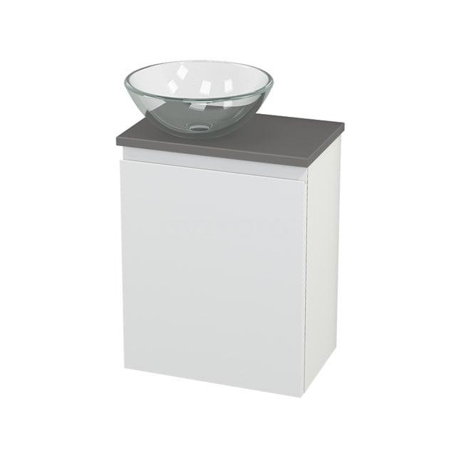 Toiletmeubel met Waskom Glas Modulo+ Pico Mat Wit 41cm BMC000204