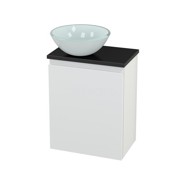 Toiletmeubel met Waskom Glas Modulo+ Pico Mat Wit 41cm BMC000212