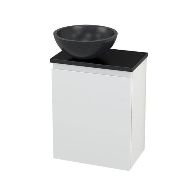 Toiletmeubel met Waskom Natuursteen Modulo+ Pico Mat Wit 41cm BMC000216