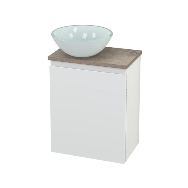 Toiletmeubel met Waskom Glas Modulo+ Pico Mat Wit 41cm BMC000219