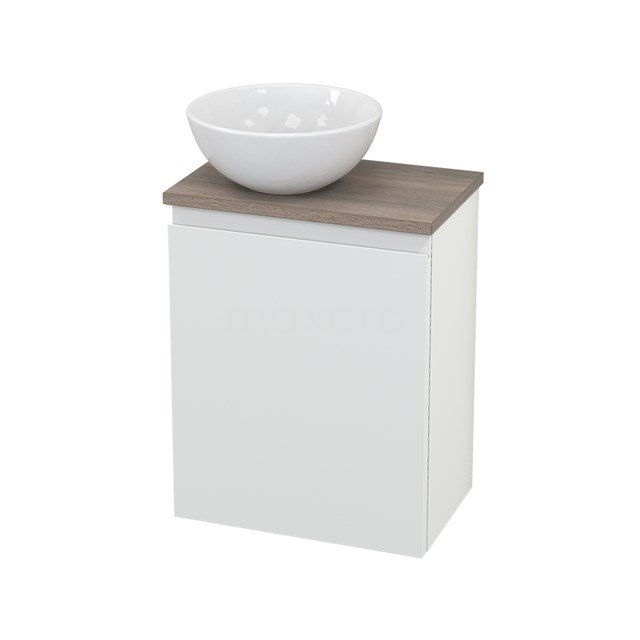 Toiletmeubel met Waskom Keramiek Modulo+ Pico Mat Wit 41cm BMC000220